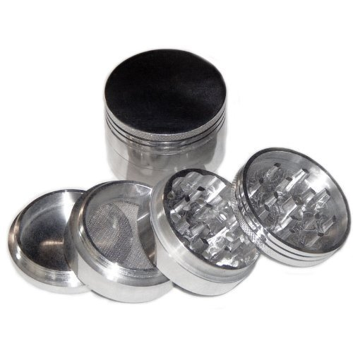 Four Piece NEW STYLE 2 1/4' Herb, Spice or Tobacco Pollen Grinder