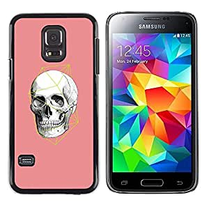 LECELL--Funda protectora / Cubierta / Piel For Samsung Galaxy S5 Mini, SM-G800, NOT S5 REGULAR! -- Pink White Geometry Anatomy --