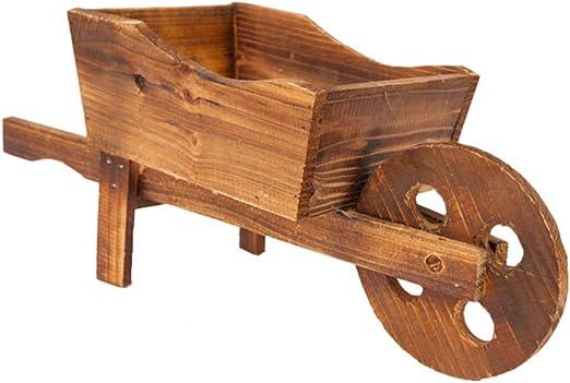 Yardwe - Maceta de madera con forma de carro, para decoración de ...