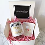Engagement Gift Box | Future Mrs Wine Glass | Personalized Ring Dish | Wedding Gift for Best Friend | Proposal