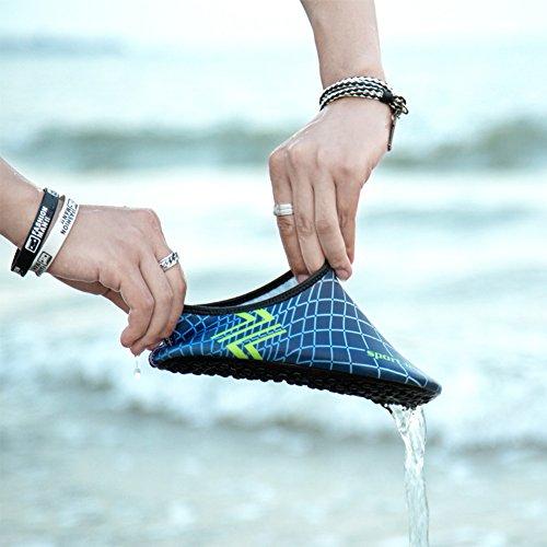 Saguaro Barfota Vatten Hud Skor Aqua Strumpor För Stranden Simma Surfa Yoga Blå 3