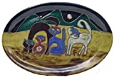Mara Ceramic Stoneware 16 Inch Cats Large Oval Serving Platter