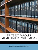 Faits et Paroles Mémorables, Volume 2..., Publio Valerio Máximo, 1273593812