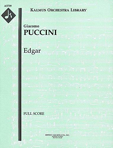Edgar: Full Score [A5739] by E.F.Kalmus