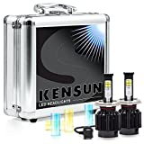 Kensun New Technology All-in-One LED Headlight Conversion Kit (from HID or Halogen) with Cree Bulbs - H4 Dual-Beam - 40W 4000LM x2-2 Year Full Warranty