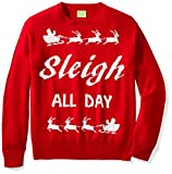 Ugly Fair Isle Unisex Jacquard Sleigh All Day Crewneck Christmas Sweater Medium Red/White Medium Red/White