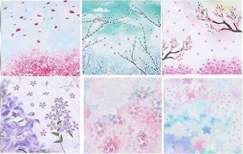 Xuxuou Faltpapier Origami Papier Faltblätter Bastelpapier FarbigesPapier Geeignet für Kunsthandwerk, Studenten, handgefertigt (60 Stück)