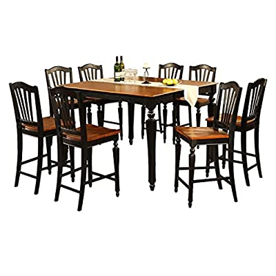 East West Furniture CHEL5 5-Piece Counter Height Table Set