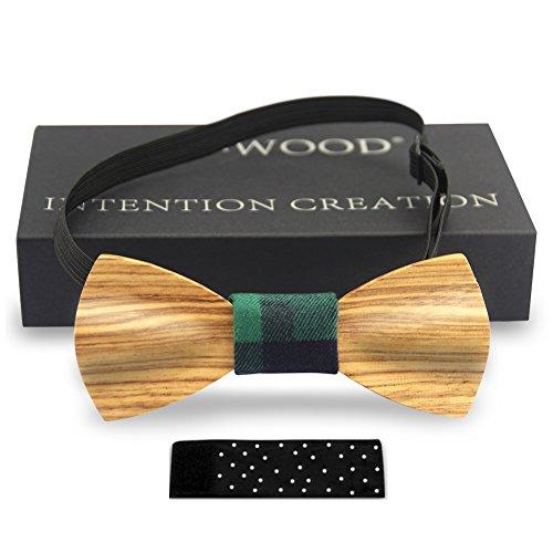 Men Bow Ties YFWOOD Unique Pre Tied Bowtie Vintage Wood Necktie Wedding Party BowtieMen Bow Ties Pre Tied Wooden Bowtie Vintage Wood Necktie Wedding Party Necktie by THAITOO (Image #1)