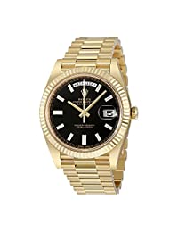 Rolex Oyster Perpetual 18K Gold Mens Automatic President Watch 228238BKDP