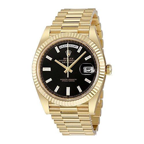 Rolex Oyster Perpetual 18K Yellow Gold Diamond Mens Automatic President Watch 228238BKDP - 18k Yellow Gold Diamond Watch