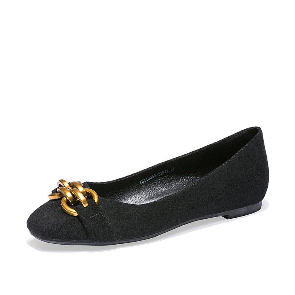 XZGC Scrub Casual Low-Heeled Mode Retro Damen Schuhe