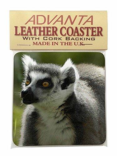 Ringtail Lemur Single Leather Photo Coaster