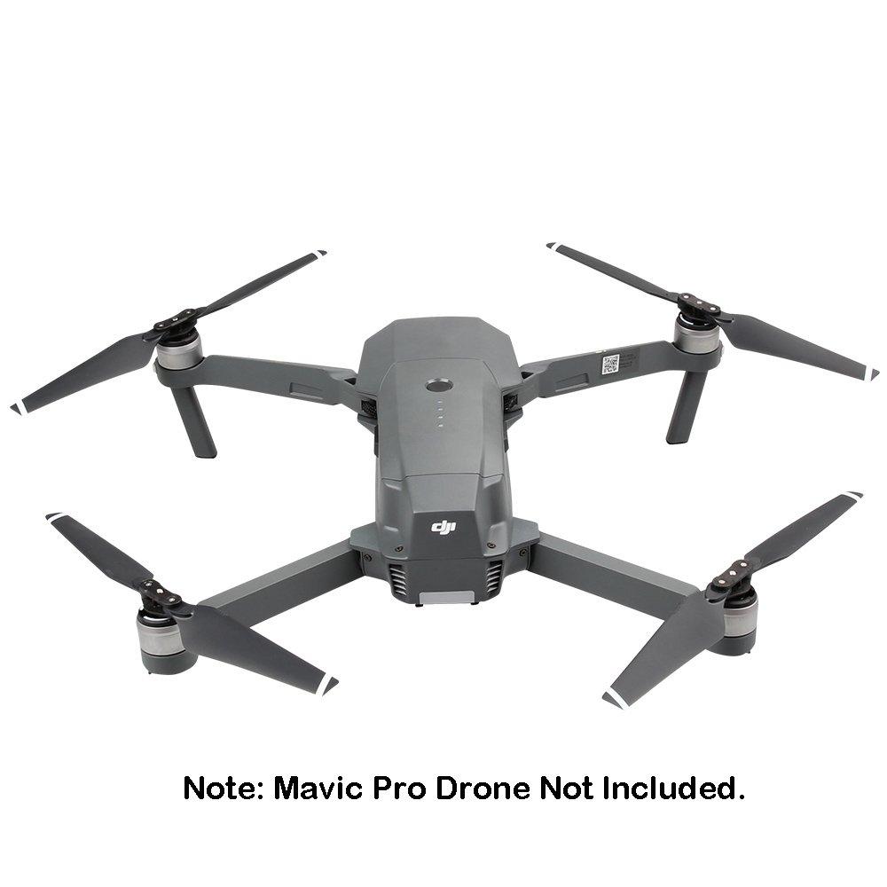 Rayure Blanche Anbee H/élices autoblocantes /à 2 Paires pour DJI Mavic Pro Drone