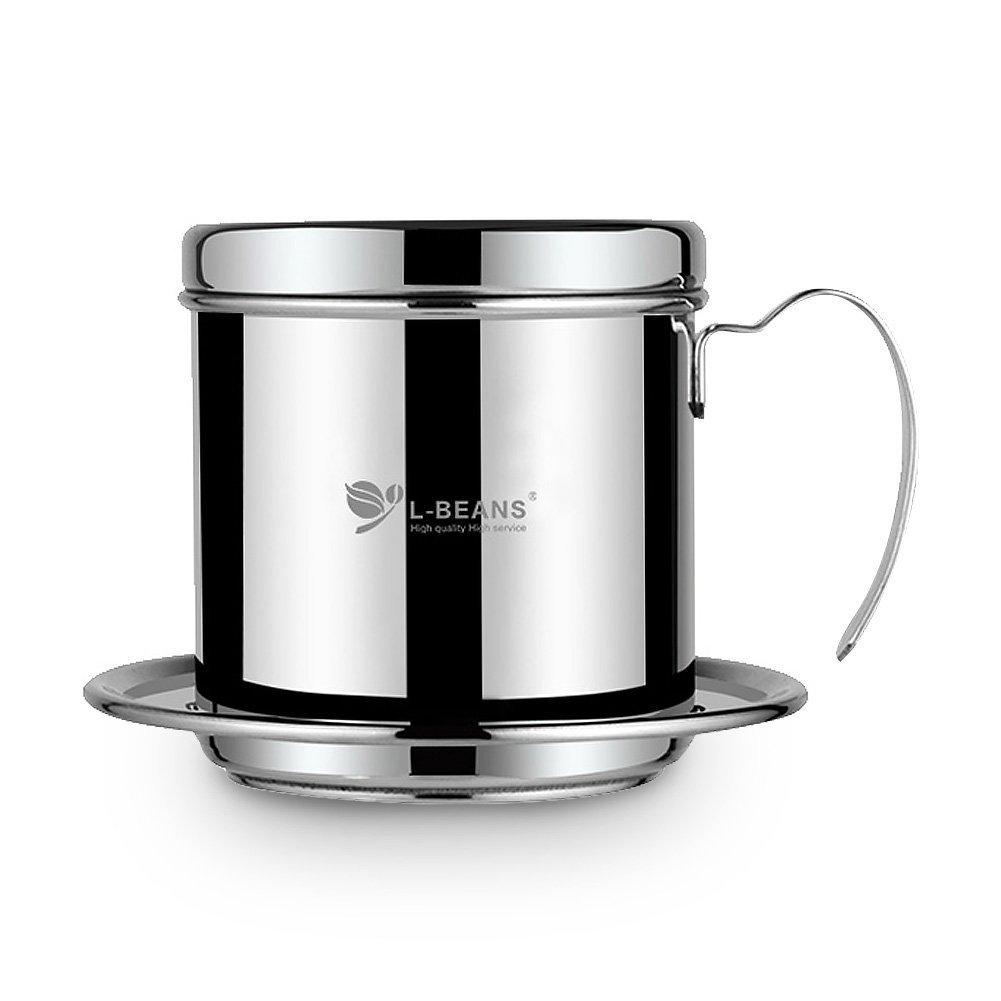 Acquisto L-BEANS Vietnamese Set di Caffè Filter Press in Acciaio Inossidabile, Tazza del Filtro Antigoccia per Caffettiera, Coffee Dripper per 1 – 2 Tazze Prezzi offerta