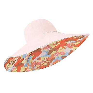Sombrero Mujer Verano Sombrero para El Sol Mujer Flexible Plegable ...
