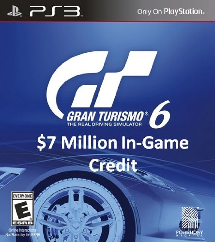 gran turismo 6 7 million in game credit ps3 digital code. Black Bedroom Furniture Sets. Home Design Ideas
