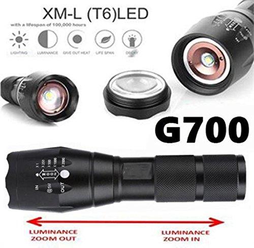 Sumilulu 2000 Lumen 5 Modes G700 Tactical Flashlight LED Military Lumitact Alonefire