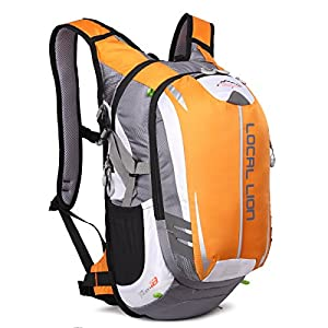 LOCALLION Backpack Outdoor Sports Hydration Rucksack for Bicycle Running Hiking Camping Travel Cycling Daypack Ultralight Men Women 18L Yellow