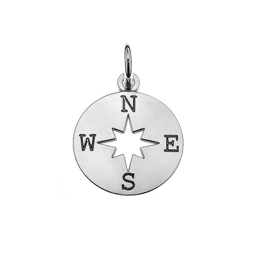 Echtes 925Sterling Silber Anhänger Kompass C7 Eurojewellery lk380