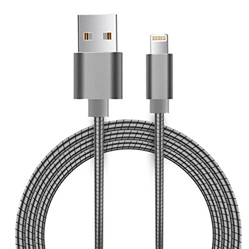reversible-lightning-to-micro-usb-cable-grey-1m-33ft-all-metal-2-in-1-iphone-samsung-one-plug-spring