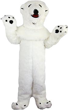 Langteng Disfraz de oso polar de pelo largo, color blanco, 15 – 20 ...