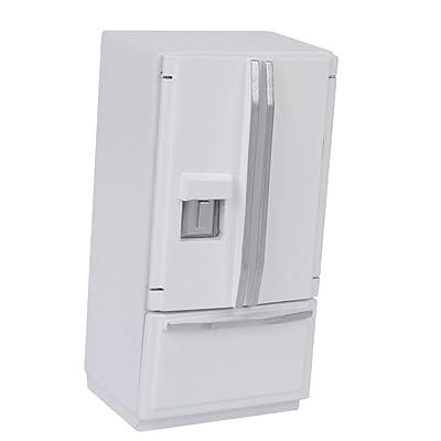 1/12 Casa De Munecas Muebles En Miniatura Nevera Refrigerador: Juguetes y juegos