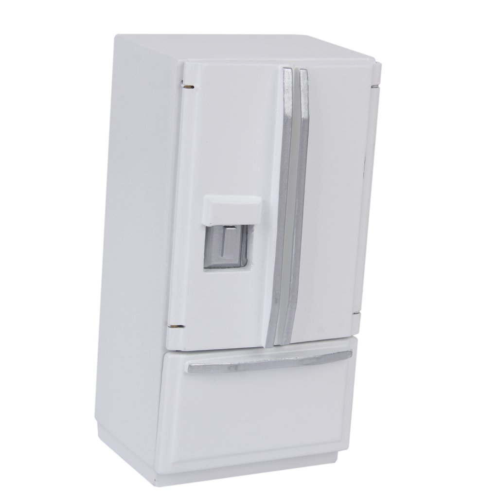 1/12 Dollhouse Miniature Furniture Fridge Refrigerator White by Generic