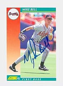 Mike Bell AUTOGRAPH 1992 Score Atlanta Braves at Amazon's