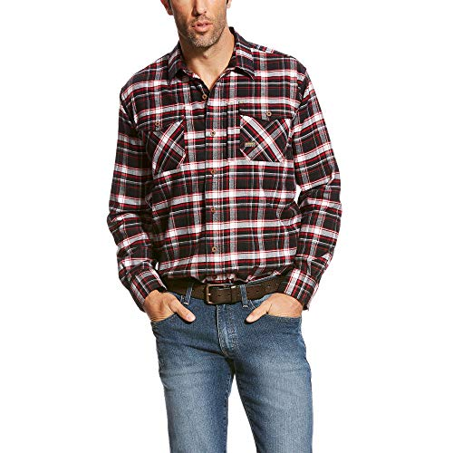 ARIAT Men's Rebar Flannel Long Sleeve Work Shirt, Jesse Plaid, X-Large R (Jesse Work Shirts)