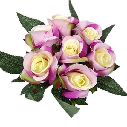 Grazioso Bouquet Di Fiori Finti, Lillu0026agrave; Artificiali Di 25u0026nbsp;cm  Color Viola E