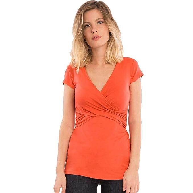 BBsmile Ropa Embarazadas Mujer Sólido Embarazada Bebé de enfermería para la Maternidad Multifuncional Camiseta Blusa