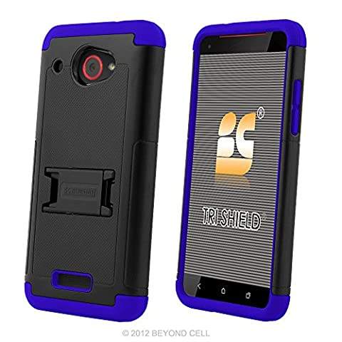 HTC Droid DNA Case, 6435, PimpCase Durable Hybrid Rugged [Full Body Protection] Armor Shockproof Black Blue Phone Cover With Built In Kickstand And Screen (Cover Htc Droid Dna 6435)