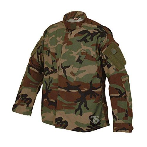 Tactical Shirt Woodland Camo - Tru-Spec 1274 Tactical Response Uniform (TRU) Shirt, Woodland Camo, XS