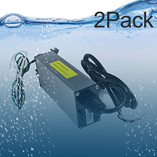 2 Pack UL Listed Waterproof IP68 LED Power Supply 12 Volt 60W DC Driver Transformer Low Voltage Output With 4.9FT/1.5M Wire by inShareplus