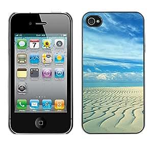 "For Apple iPhone 4 / 4S , S-type Playa de arena"" - Arte & diseño plástico duro Fundas Cover Cubre Hard Case Cover"
