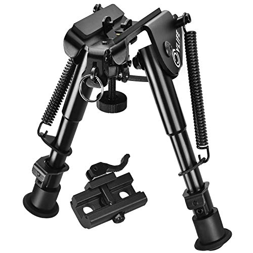 (CVLIFE 6-9 Inches Rifle Bipod Quick Release Adapter Included for Hunting and Shooting)