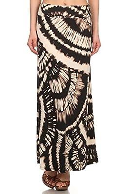 Private Label Women's Plus Size High Waisted Print Skirt Maxi Skirt Long Skirt
