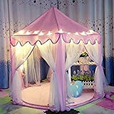 Toys : NO.7Artisan Kids Tent Princess Castle Girls Playhouse Tunnel with 23 Feet and 50 Led Star Light String,Indoor and Outdoor Children Large Toy Gift