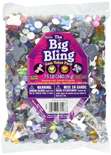 Darice 1078-23 Big Bling Shapes Gem Value Pack Rhinestone, Multicolor]()