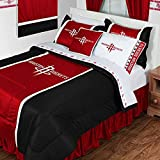 Houston Rockets 4 Pc TWIN Comforter Set (Comforter, 1 Flat Sheet, 1 Fitted Sheet, 1 Pillow Case) PERFECT FIT FOR A FAN'S BEDROOM OR DORM!