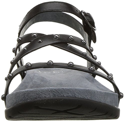Dansko Grain Flat Brigitte Full Black Medium Black Full Women's Grain Sandal rBqvSwxr7