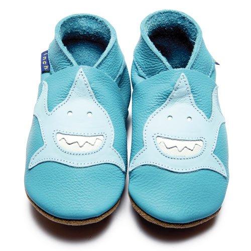 Inch Blue - 1617 S - Chaussures Bébé Souples - Requin - Turquoise - T 17-18 cm