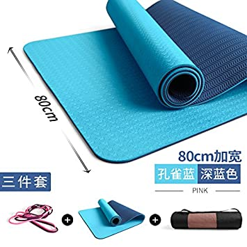 YOOMAT Yoga Mat TPE Amplia extensión Gruesas Mats Aptitud e ...