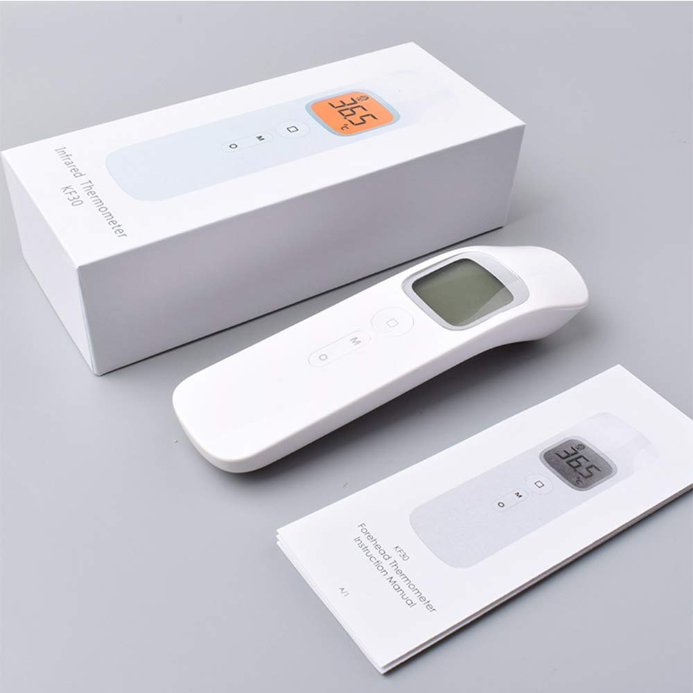 HEFUTE Term/ómetro infrarrojo para Frente y Orejas ni/ños y Adultos Memoria 32 para beb/és Puede medir la Temperatura del Cuerpo y el Objeto Term/ómetro Digital de Lectura instant/ánea 1S