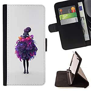 Momo Phone Case / Flip Funda de Cuero Case Cover - Capas Purple;;;;;;;; - Samsung Galaxy Core Prime