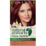 Clairol Natural Instincts Crema Keratina Hair Color Kit, Medium Red 5RR Raspberry Creme