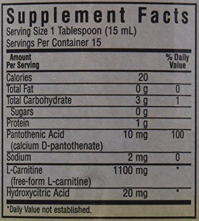 BlueBonnet Liquid L Carnitine 1100 mg