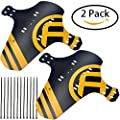 """HCFGS MTB Mudguard, 2 Packs Mountain Bike Fenders Quick Release Cycling Fender, Compatible with Front and Rear, Fits 26"""", 27.5"""", 29"""", Plus Size and Fat Bike Wheel Sizes"""