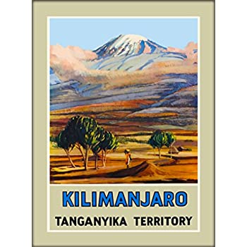 A SLICE IN TIME Kilimanjaro Tanganyika Territory Tanzania East Africa African Vintage Travel Collectible Wall Decor Art Poster Print.